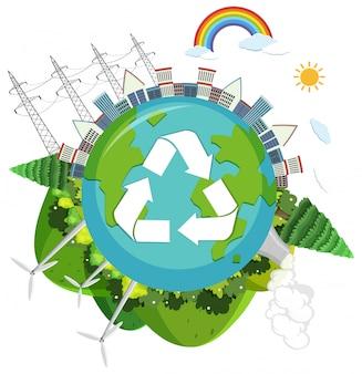 緑の自然のロゴ