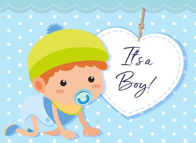 男の子の赤ちゃんのテンプレート