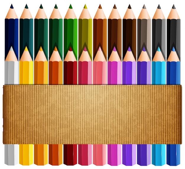 Картонная бумага поверх цветных карандашей