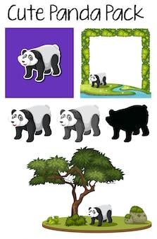 かわいいパンダのパック