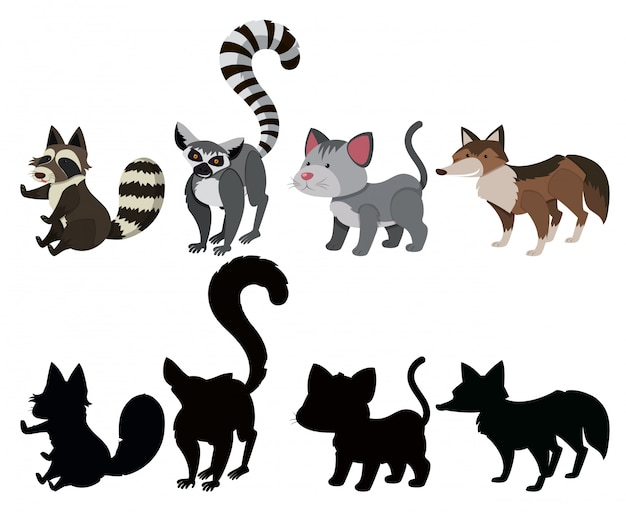Набор символов животных
