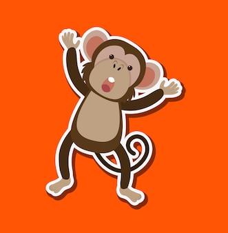 単純な猿のキャラクター