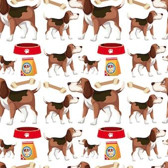 犬のシームレスパターン
