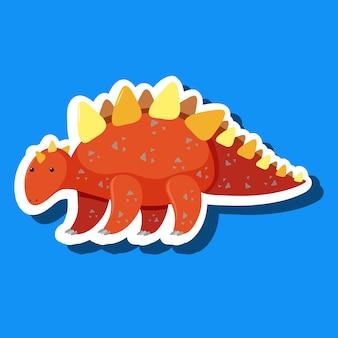 簡単な恐竜ステッカー
