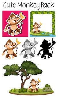 Стая милой обезьяны