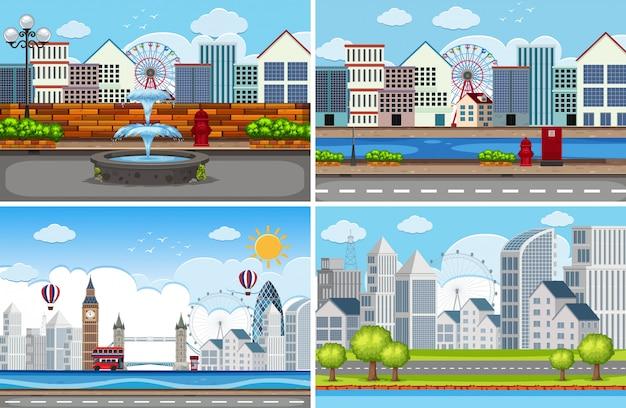都市景観のセット