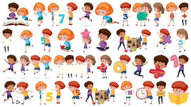数学の子供たちのセット