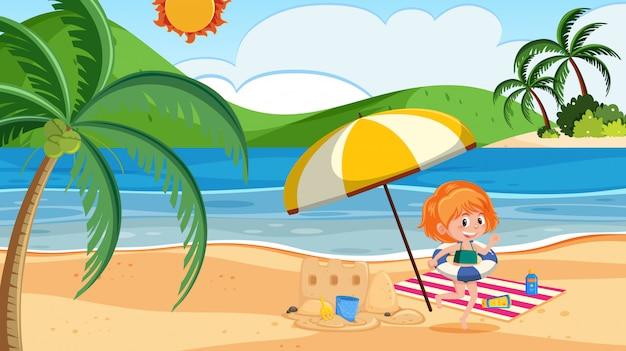 浜の女の子