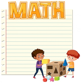 Шаблон математической заметки