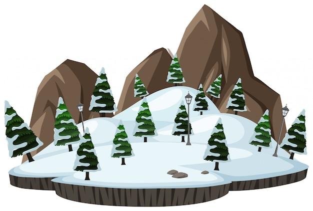 Открытый зимний пейзаж