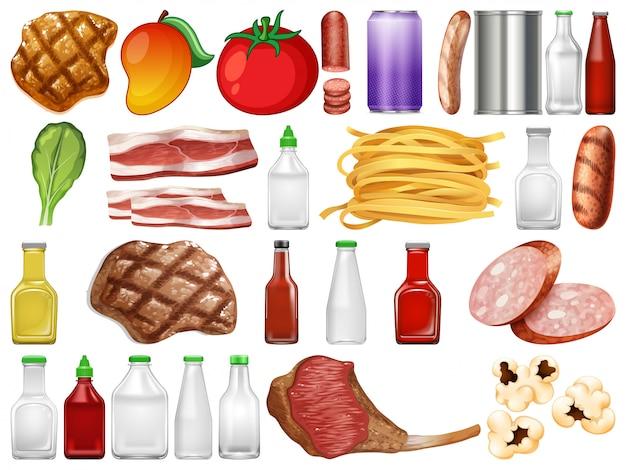 食品と容器のセット