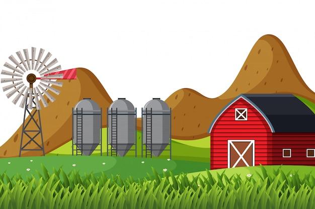 農村住居のシーン