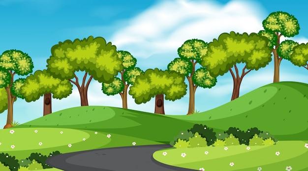 単純な道路シーン