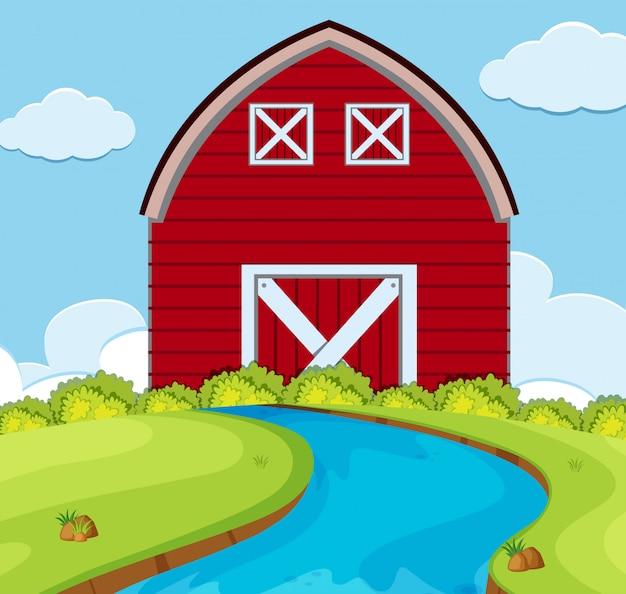 シンプルな田舎の家のシーン