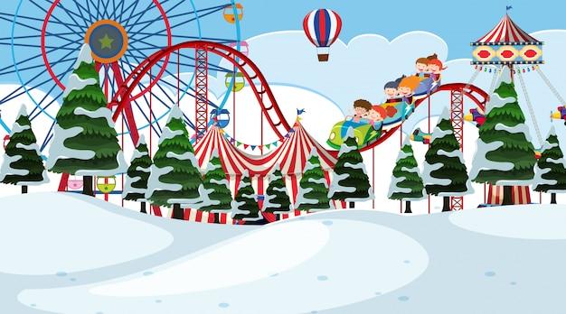 Цирк зимний пейзаж