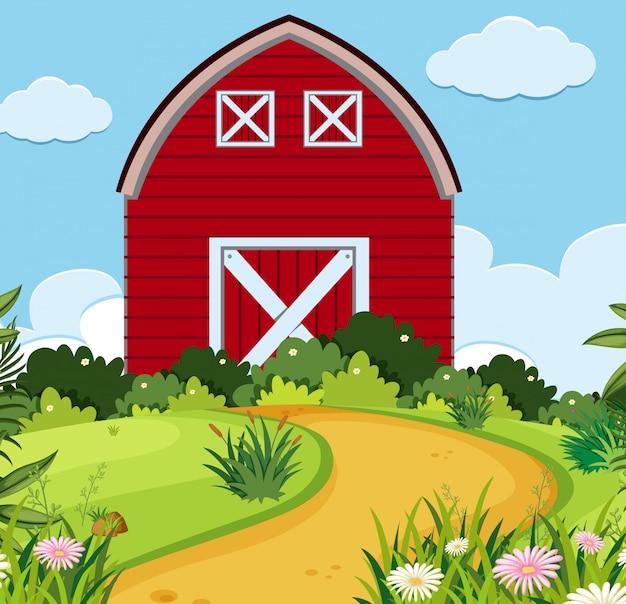 シンプルな田舎の家