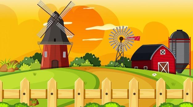 農村の農地シーン