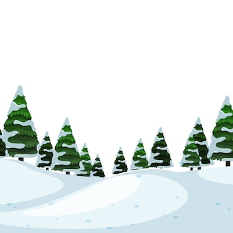 雪の背景の背景シーン
