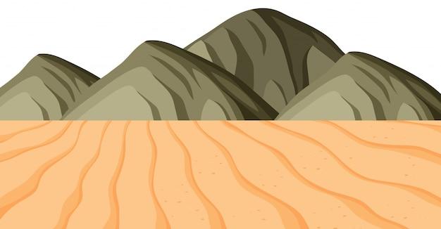 砂と山の風景の背景