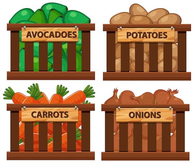 野菜がいっぱい入ったバスケット