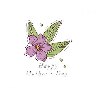 Ничья рука для поздравительной открытки дня матери красочный цвет. типография и значок для весеннего праздника фон, баннеры или плакаты и другие печатные формы.