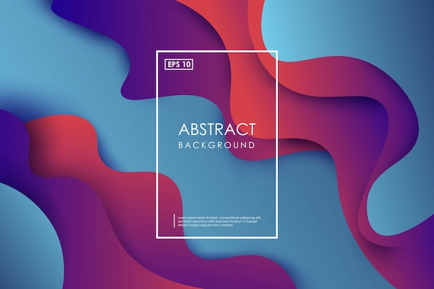 Абстрактный волнистый геометрический красочный фон. модные композиции градиентных фигур