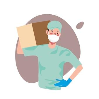 Доставка товара при профилактике короновируса,