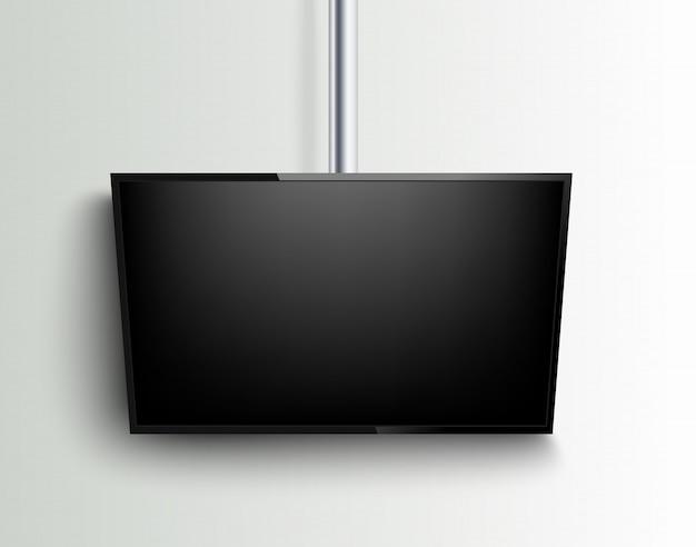 Реалистичный телевизор на белом.