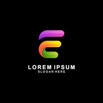 Письмо е новый логотип значок