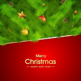 星とボールの美しいクリスマス草背景