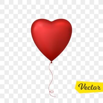 Красный шар в форме сердца. с днем святого валентина.