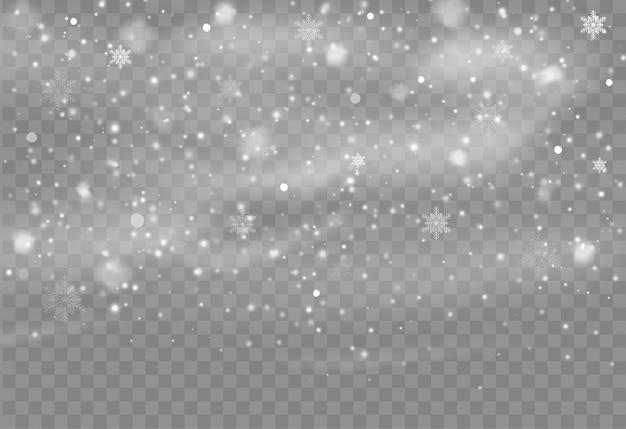 Падающий снег наложение фона