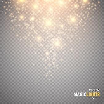 魔法の光の効果グロー特殊効果光、フレア、星、バースト分離火花
