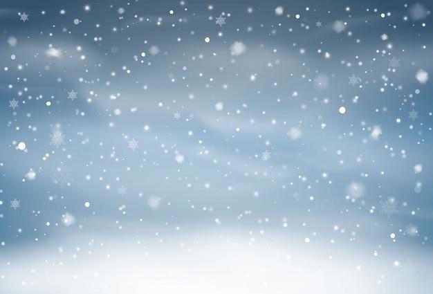 Наложение падающего снега