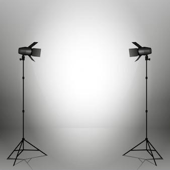 Вектор прожекторы. сцена. световые эффекты