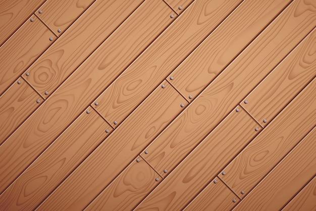 木製の背景。ベクトルウッドテクスチャ。木の板