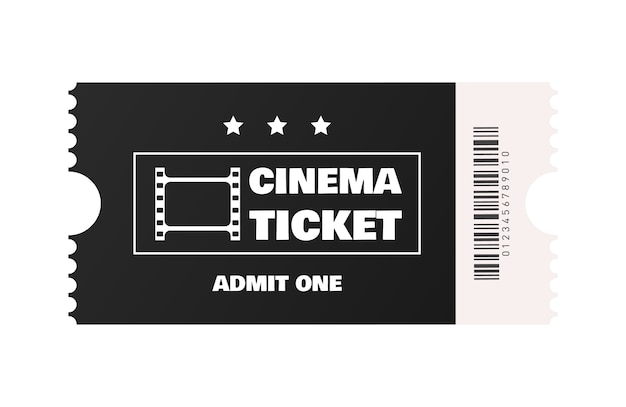 Билет в кино изолированы. ,