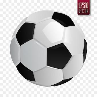 サッカーボールが分離されました。