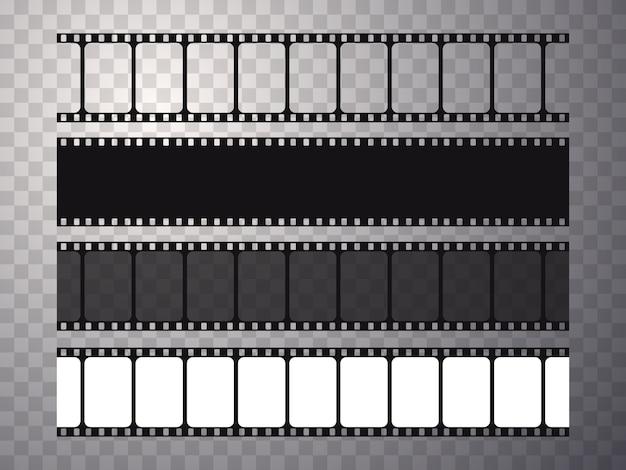 透明に分離されたベクトルフィルムストリップのセット