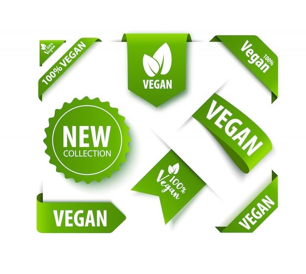 Эко органический продукт этикетки или бирки.