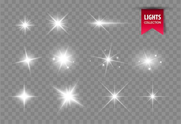 輝く星を照らします。