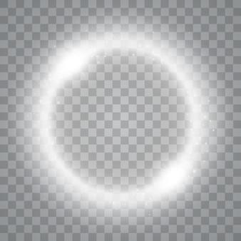 透明で分離された魔法の輪