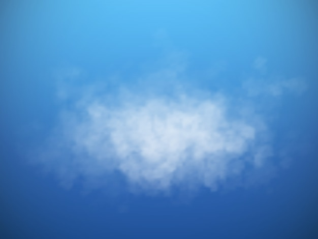ベクトル分離雲または煙。