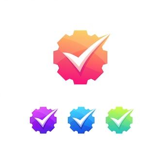 Промышленный контрольный список инженер логотип механик