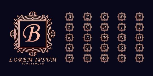 スクエアミニマリストの初期プレミアムロゴプレミアム