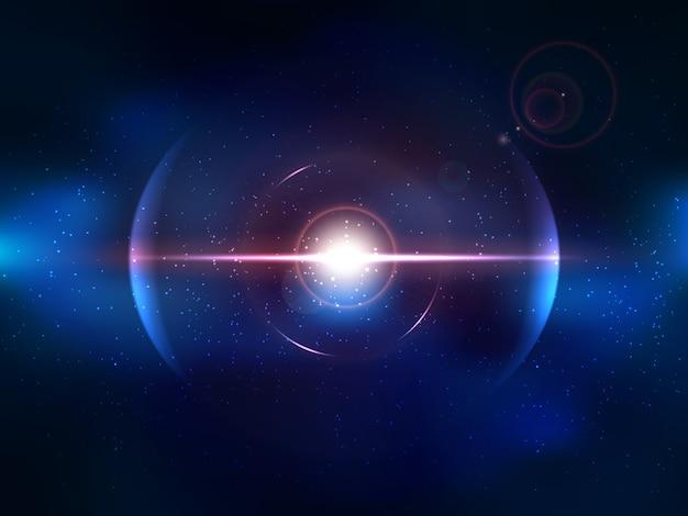 Синий космический взрыв, взрыв космоса