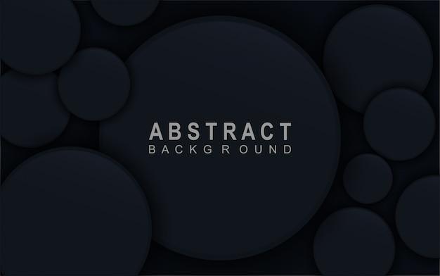 抽象的なサークル暗い青色の背景。