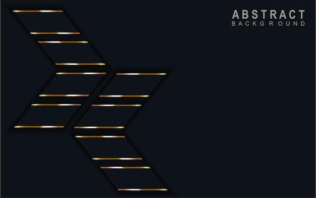 抽象矢印暗い青色の背景。