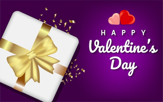 С днем святого валентина фон формы сердца