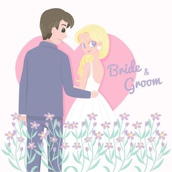 花とのロマンチックな結婚